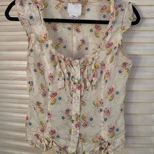 Anna Sui for Anthropologie floral blouse